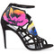 Pierre hardy - floral print strappy sandals - women - leather - 41, black, leather