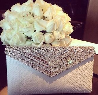 bag clutch bag white jewelled love snake print white diamantes clutch handbag crystal bag purse diamonds beaded champagne clutch
