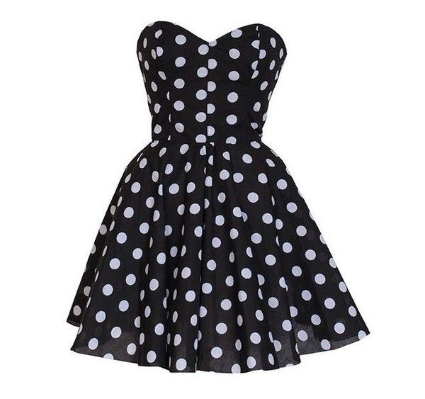 dress polka dots dress