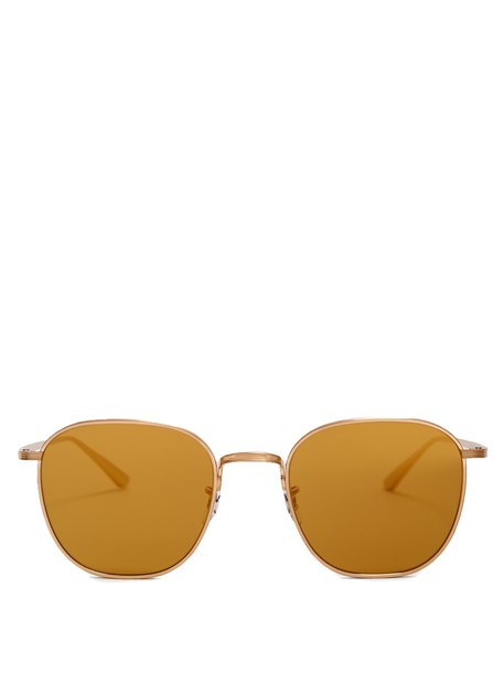 The Row sunglasses gold