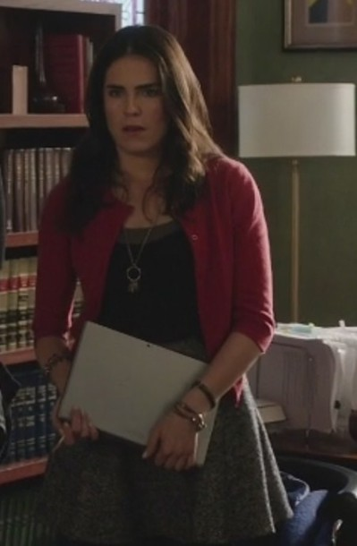 skirt Karla Souza how to get away with murder Laurel Castillo cardigan
