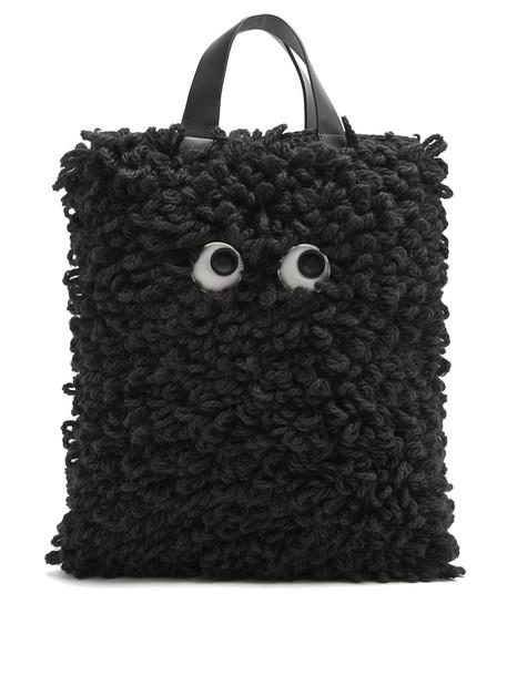 bag tote bag wool black