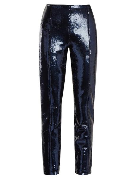 Diane Von Furstenberg embellished navy pants