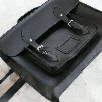 Cambridge Satchel Black Backpack — Bib   Tuck on Wanelo