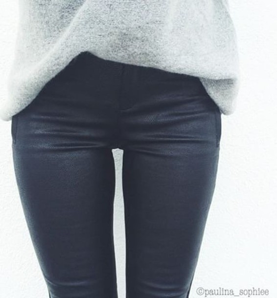 pants leather leggings leather pants black matte