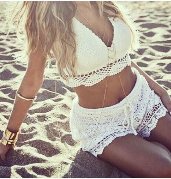 jumpsuit white shirt dress crop tops spring spring break jewels