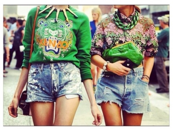 color green t-shirt kenzo sweater
