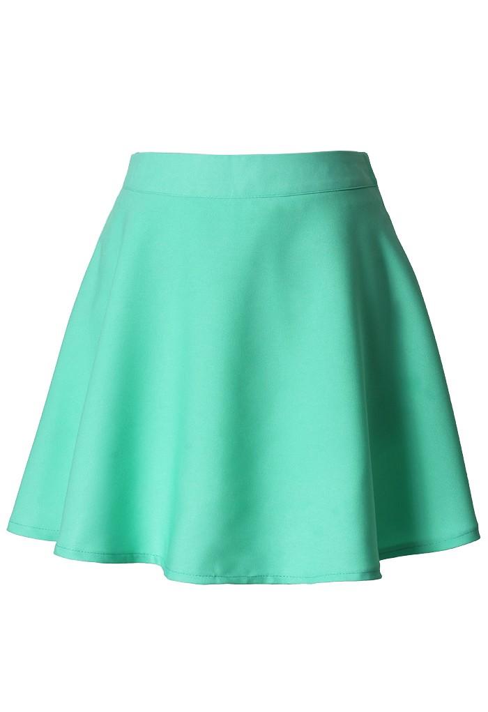 Navy blue floral bedding - Green Mini Skirt Mint Skater Skirt Ustrendy
