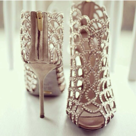 shoes high heels silver heels diamond heels sparkly heels prom prom heels