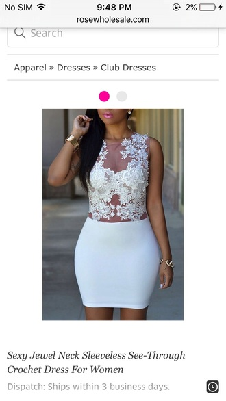 dress girly girl girly wishlist white white dress bodycon dress bodycon lace dress lace sleeveless sleeveless dress