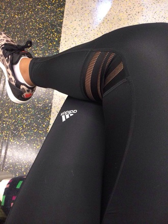 leggings workout leggings fashion adidas black sportswear fitness pants pants training pants addidas tights tights black tights