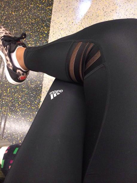 leggings workout leggings fashion adidas black sportswear fitness pants  pants training pants addidas tights tights black b10c2b0c215