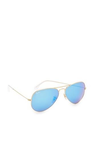 matte classic sunglasses aviator sunglasses gold blue