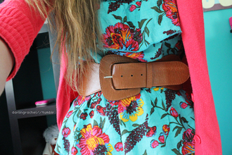belt brown leather thick