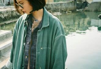 jacket green vintage