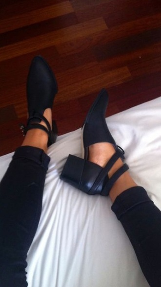 shoes black black boots boots ankle boots ankle strap