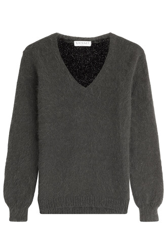 pullover knit grey sweater