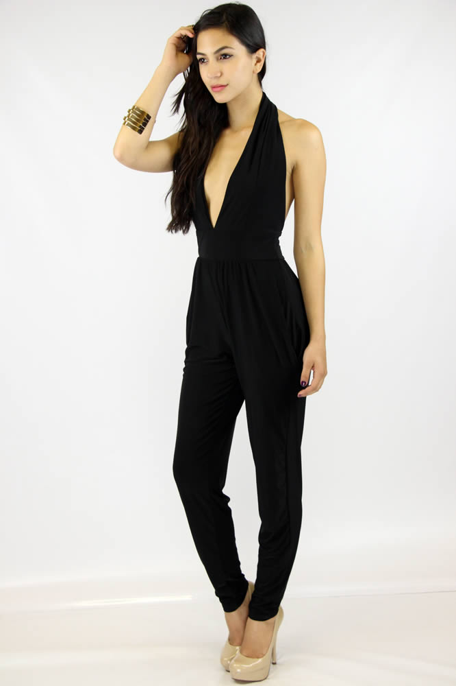 Going Deep Jumpsuit - Black : Current Fashion Trends & Styles