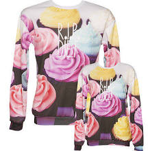 Official R.i.p Diet All Over Print Cupcake Sweater From Mr Gugu & Miss Go