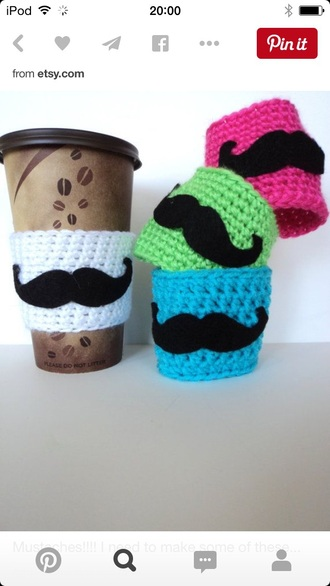 home accessory moustaches cup  holders mustache diy