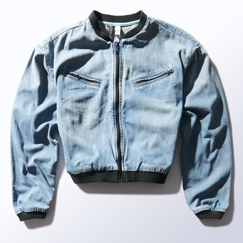 Selena Gomez Denim Bomber Jacket