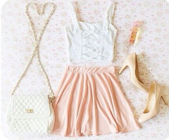 dress top girly style skirt pretty fashion lool lookbook perfecto amazing shoes outfit shorts