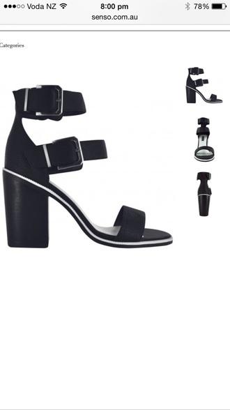 shoes heels high heels black heels black shoes buckles