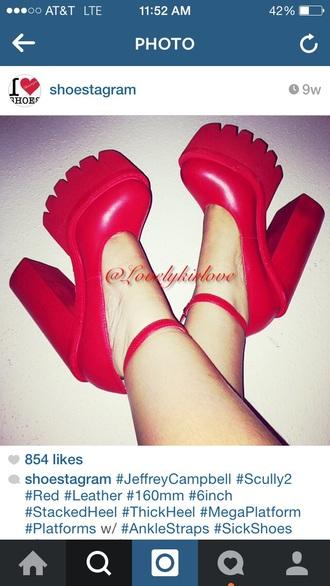 shoes heels jeffrey campbell red redheels red high heels