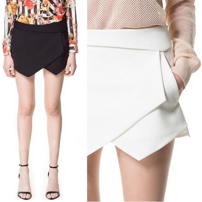 Aliexpress.com : Buy 2014 Hot Fashion 4 Colors Women Mini Skirt Tiered Shorts Irregular Zipper Trousers Culottes Short Shirt Skorts XS S M L XL from Reliable mini skirt women suppliers on Dola's Wardrobe