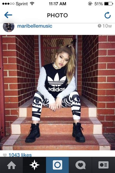 shirt black cute black and white style adidas long sleeve black t-shirt gray t-shirts aztec leggings aztec
