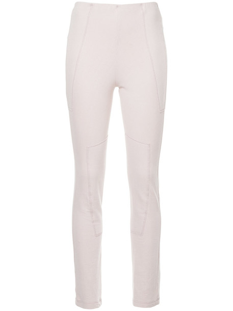 leggings high women spandex cotton purple pink pants