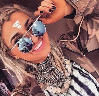 sunglasses coachella boho chic bohemian jewels