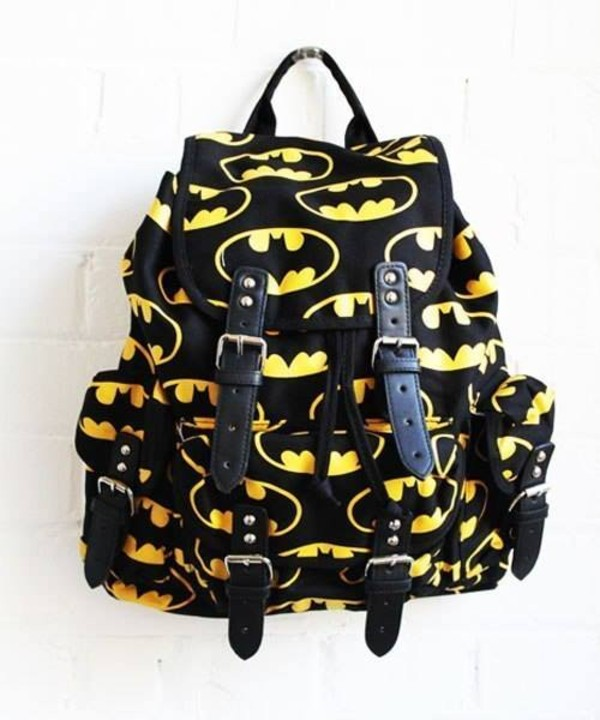 bag batman brands black yellow badman badmanbag so awesome style backpack hippie fashion back to school backpack