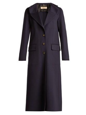 coat wool navy