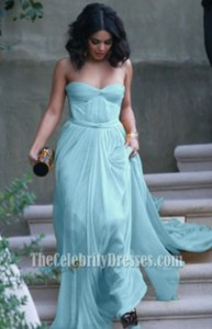 dress vanessa hudgens blue dress prom dress prom long dress chiffon blue