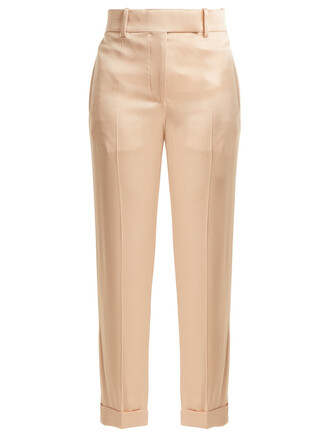 high satin light pink light pink pants