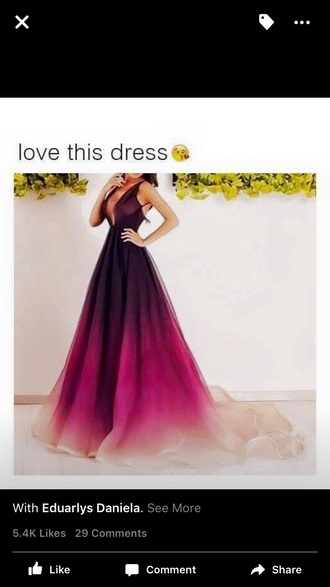 dress prom dress chiffon burgundy peach pink ombre dress low neckline open back
