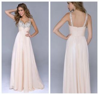 champagne prom dress diamonds a line dress prom dress sleeveless dress spaghetti straps dress hourglass floor-length prom dresses