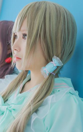 hair accessory candy blue cute kawaii pastel goth lolita fairy kei pastel