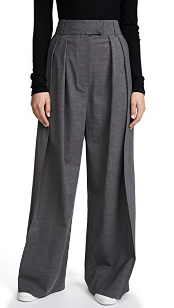A.W.A.K.E. pants pleated wool grey