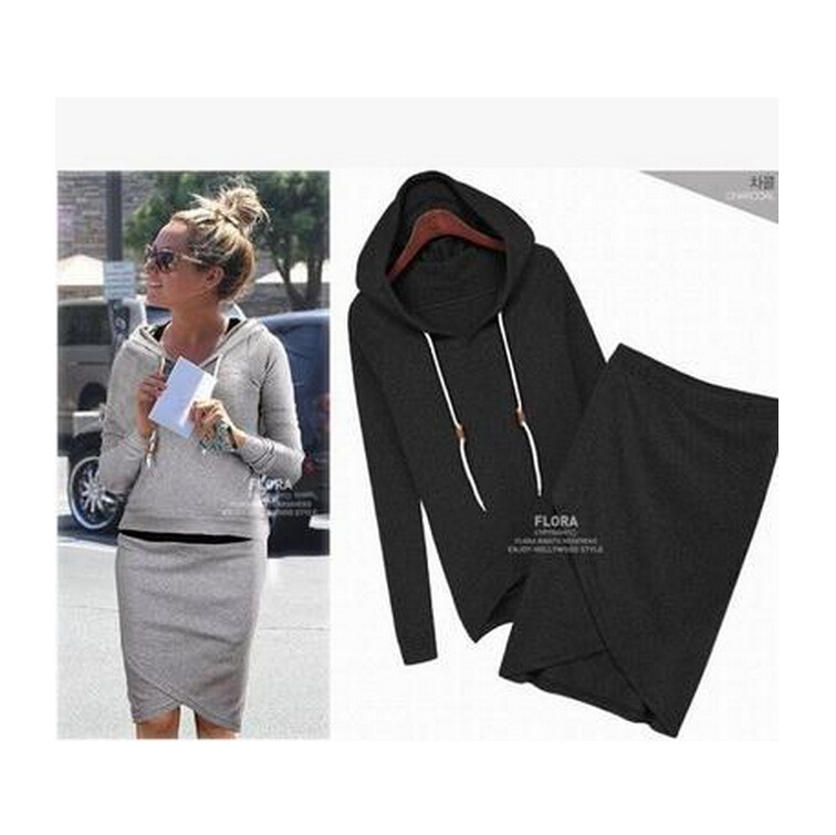Aliexpress.com : Buy Fashion New zara2014 Summer Women's Sets Harajuku Hoodies Irregular Skirt Suit Black Gray Pullover Sweatshirt Sportswear 2pcs from Reliable suit shirt suppliers on Happy Moments Store