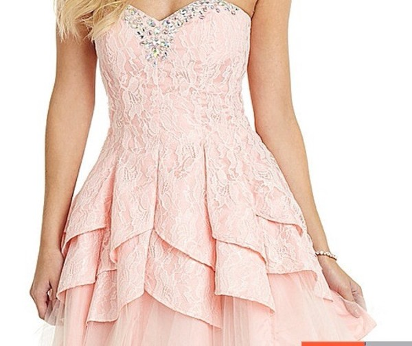 dress pink dress lace prom dress lace bodysuit
