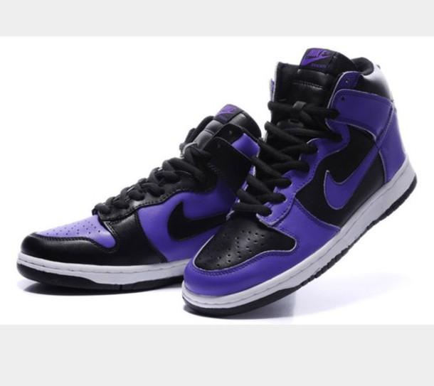 nike high tops purple Shop Clothing
