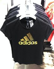 top,crop tops,crop,cropped,cropped t-shirt,sexy,sexy top,black,black and gold,adidas crop top,adidas tee,adidas t shirt,sporty,workout,summer,summertop,summer top,casual,casual top,jeans top,gym,fitness,street,casual chic,adidas letter,black adidas,lookbook,holiday outfit,preppy,pretty,fashion top,adidas,sportswear,black crop top,summer outfits,streetstyle,streetwear