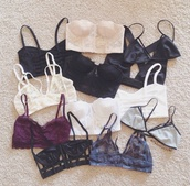 underwear,bra,multicolor,tank top,bralette,cute,victoria's secret,crop tops,lace,burgundy,white,black,top,sexy lingerie,lace  brlette,nude,cream
