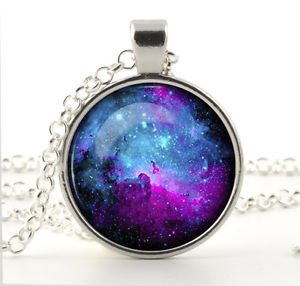 Jewelry Gift for Her Nebula Pendant Necklace Galaxy Space Art for Women Xmas | eBay