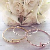 jewels,cherry diva,quirky jewellery,bracelets,gold bangles,silver,silver jewelry,screw bracelet,nail bracelet,rose gold,gold chain