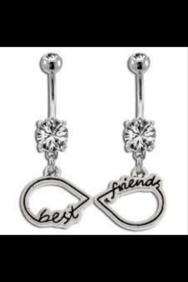 Amazon Best Friends Infinity Symbol Belly Ring Jewelry