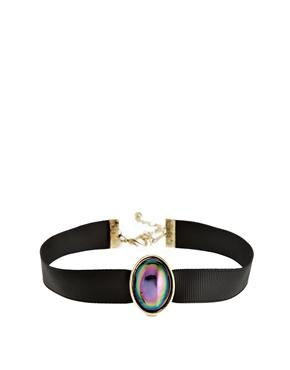 ASOS | ASOS Rainbow Stone Choker Necklace at ASOS