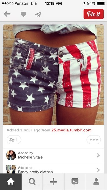 Shorts: red white and blue, july 4th, american flag shorts ...